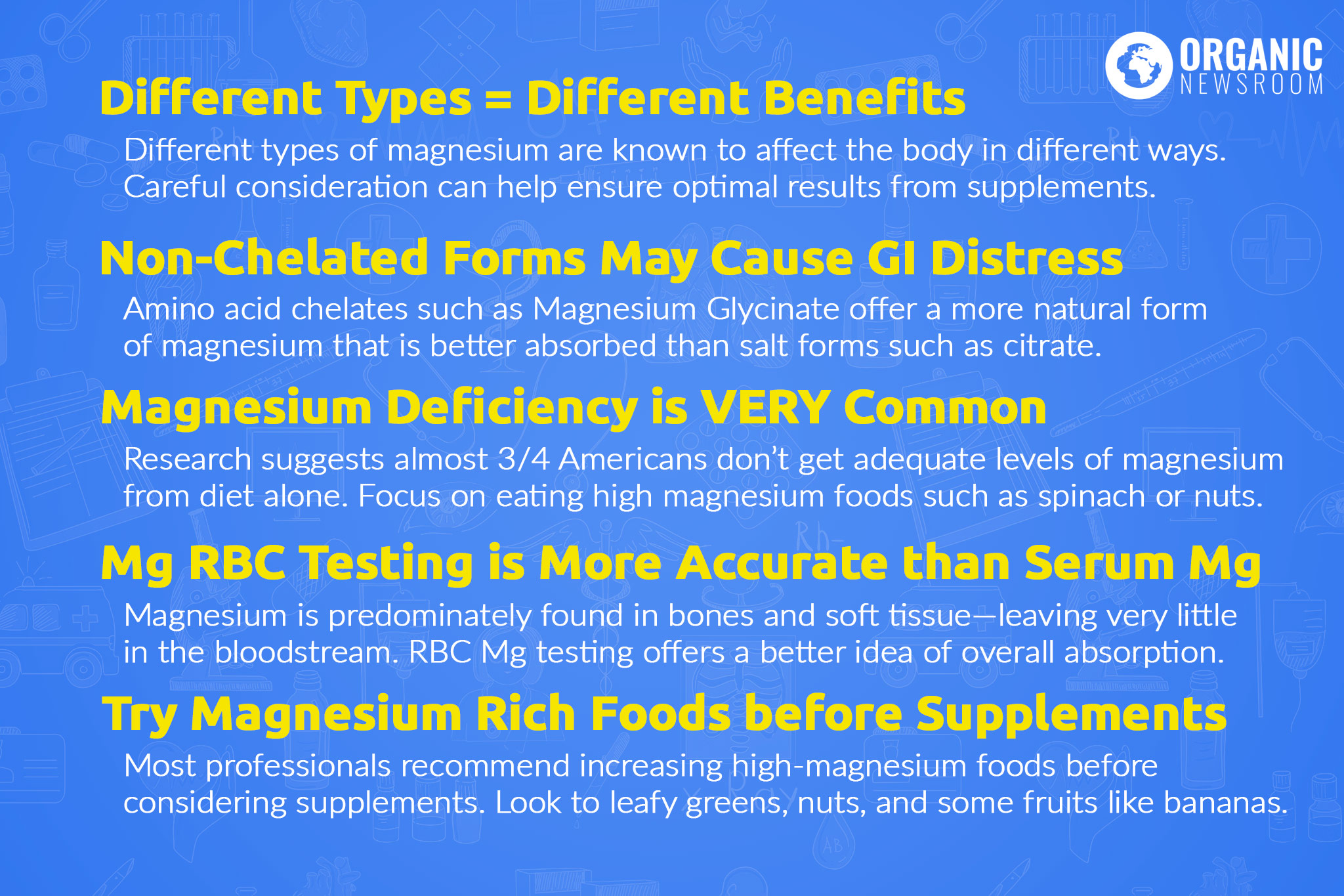 Magnesium Supplement Considerations OrganicNewsroom