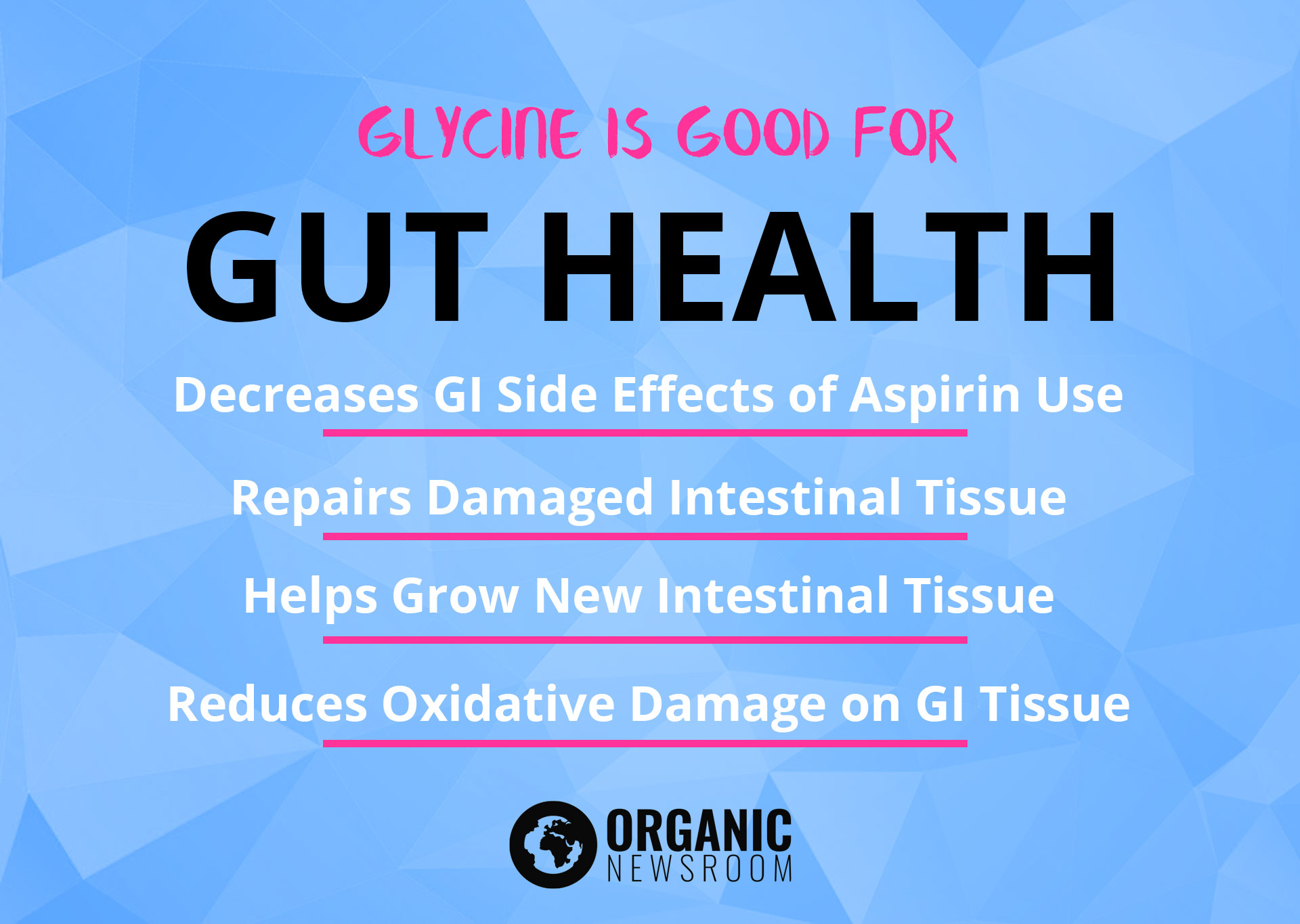 Glycine Gut Health Benefits OrganicNewsroom
