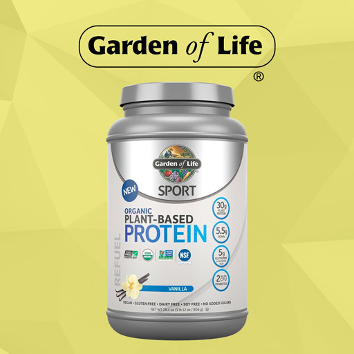 Organic Plant-Based NSF-Certified for Sport Protein Powder by Garden of Life