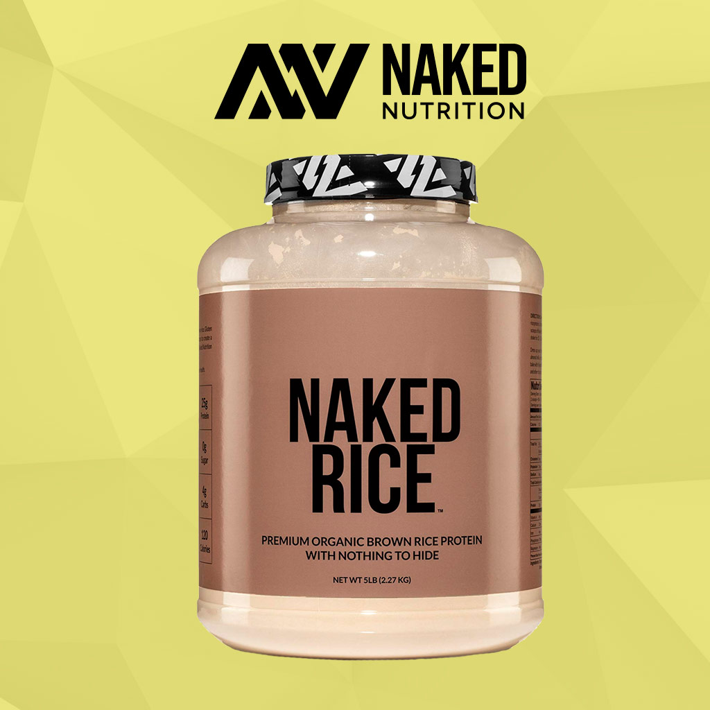 Naked Nutrition Organic Rice Protein Powder Bottle Front View