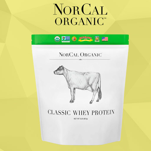 NorCal Organic Grass-Fed Whey Protein Powder Package Front