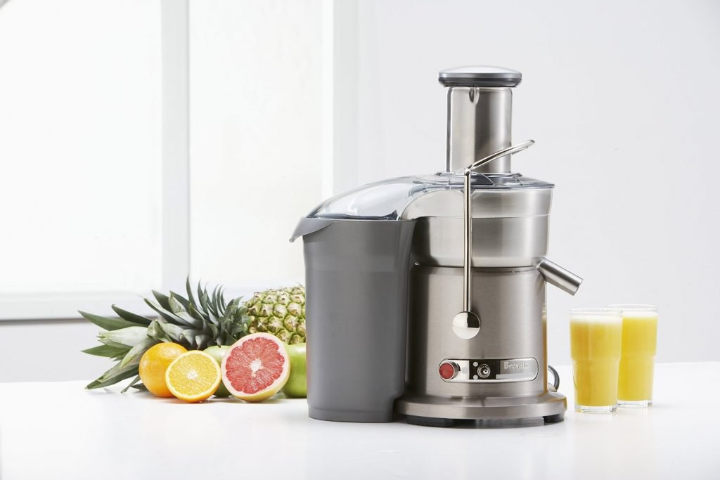 Breville Juice Fountain Elite Juicer with Pulp Ejection and Collection Container