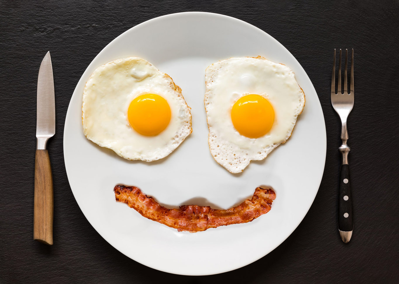 bacon egg happyface